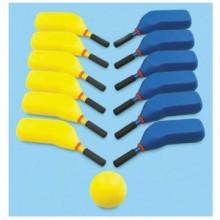 키드짐 - 소프트하키 스틱12개(노랑6개 파랑6개) 공1개